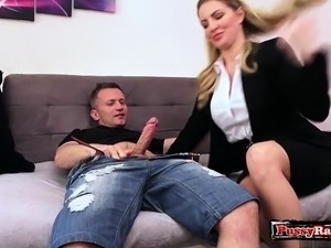 Big tits amateur titty fuck with cumshot