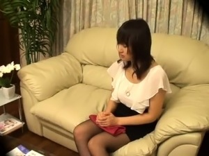 Busty Japanese girl with a lovely ass has sex with a masseur