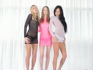 Three girls three beautiful holes