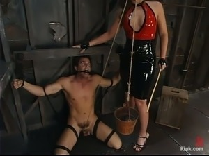 Beautiful Flower Tucci Having Fun Dominating Guy in BDSM