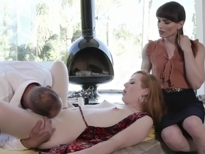 Awesome sexy chestnut haired Tgirl Shiri Trap enjoys some good anal