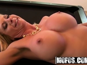Hot blonde mom Brooke Tyler wants black cock only