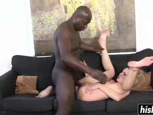 Roxy tries out a black cock