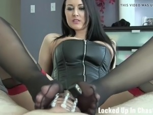 I will stuff your pathetic cock in a tiny cock cage
