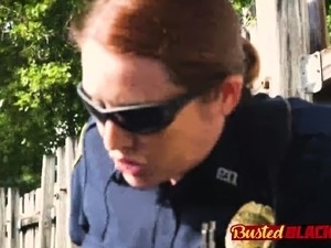 Perverted milf cops take suspect
