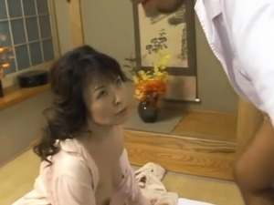 Japanese mature chick gets her soaked love tunnel fingered