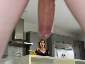 Mommy Helps On Stepson's Stubborn Erection