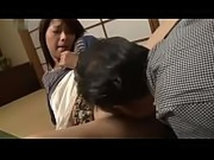 Asian Japanese drunk husband can&#039_t see his colleague is fucking his wife...